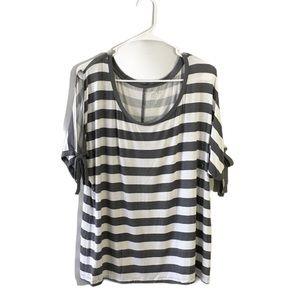NWT Soho NY&C Striped Shirt sleeve Ties XL